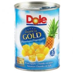 DOLE Ananasu gabaliņi sulā 567g