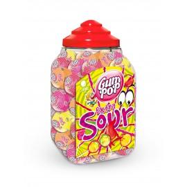 Ledenes uz kociņa Gum Pop Extra Sour(skabās)18gx100