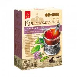 Beramā melnā tēja ar timiānu un raudeni «Кrasnodarskij s 1901goda»