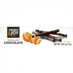 Tumšās šokolādes stienīši ar apelsīnu garšu
